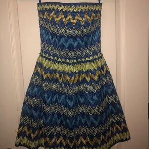Super cute cocktail dress, size Small, strapless